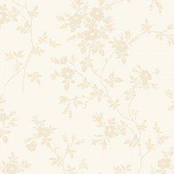 Poppies - tonal - delicate vine on cream