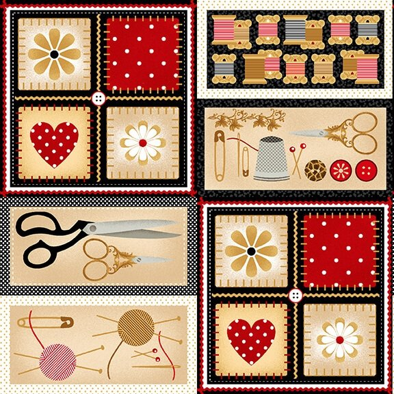 Sewing Minds the Soul - sewing notions in frames