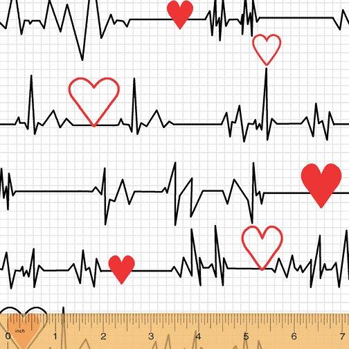 Calling All Nurses - EKG Heartbeat on white