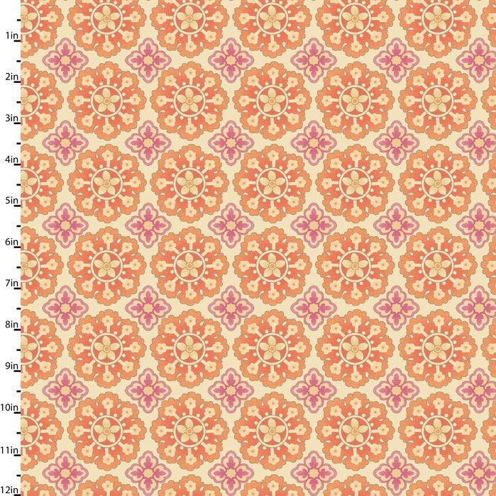 Meadowlark - flowers on tan