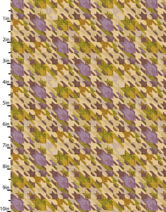 Meadowlark - starlike pattern - purple & yellow