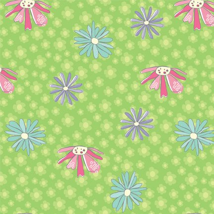 Pretty Little Things - daisies on green