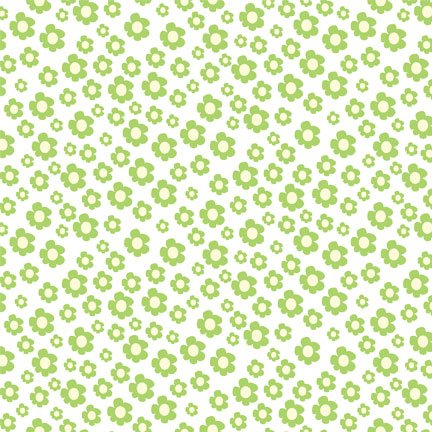 Pretty Little Things - Floral Ditzy Green