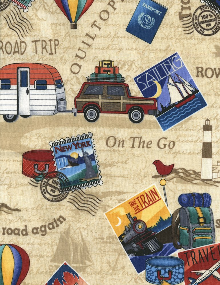Row by Row - On The Go - tossed travel pics