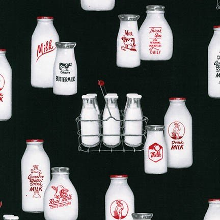 Down on the Farm - milk bottles