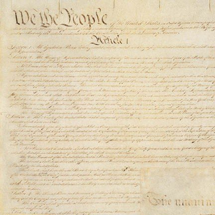 Preamble to the Constitution - antique color