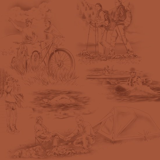 Our National Parks - park activities - terra cotta background