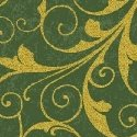 Deck the Halls - gold scrollwork on green