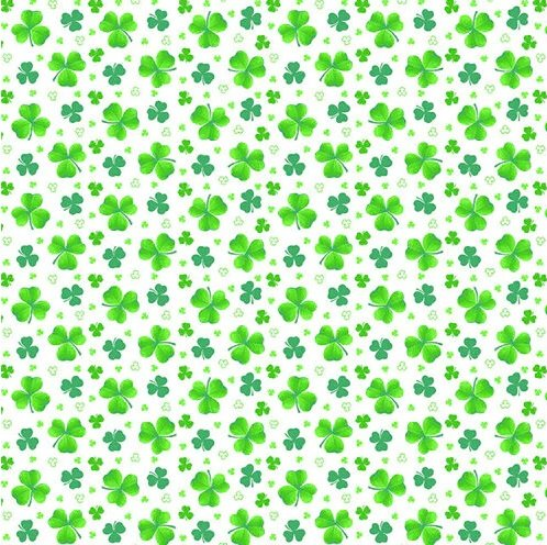 Pot of Gold - tossed clover on white