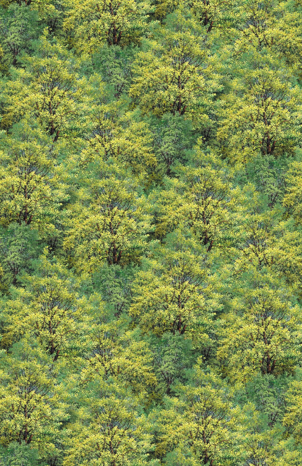 Trees - yellow and green