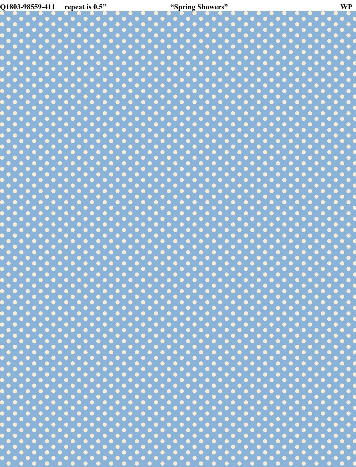 Backyard Pals - white dots on blue