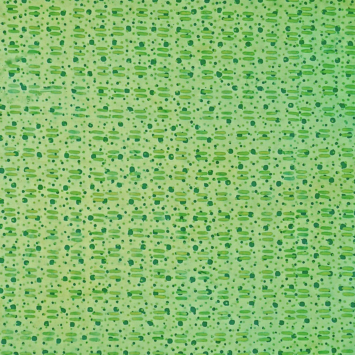 Batik by Mirah - Zen Garden - Maggie Green - green dots & dashes on green