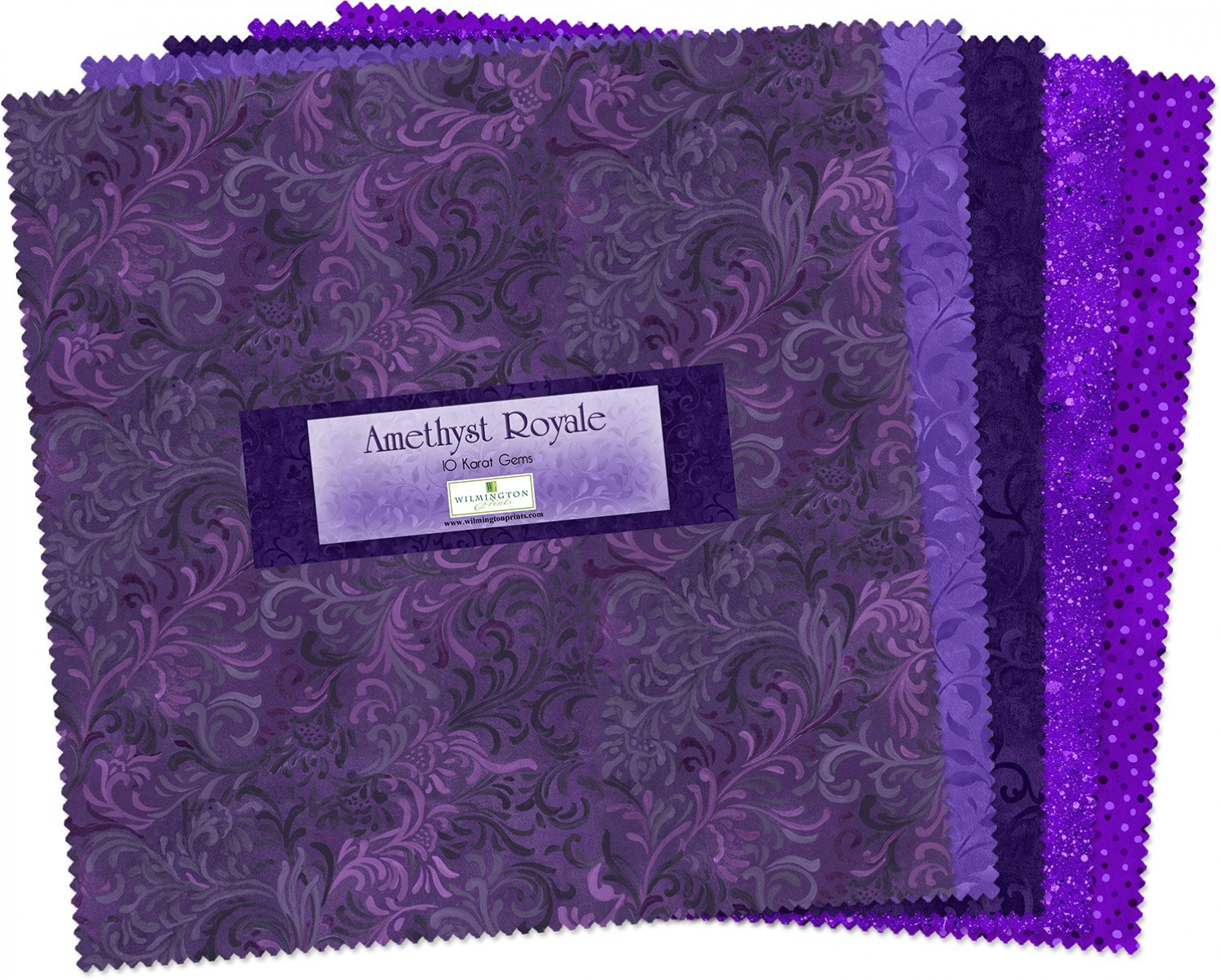 10in Squares Amethyst Royale 24 pcs