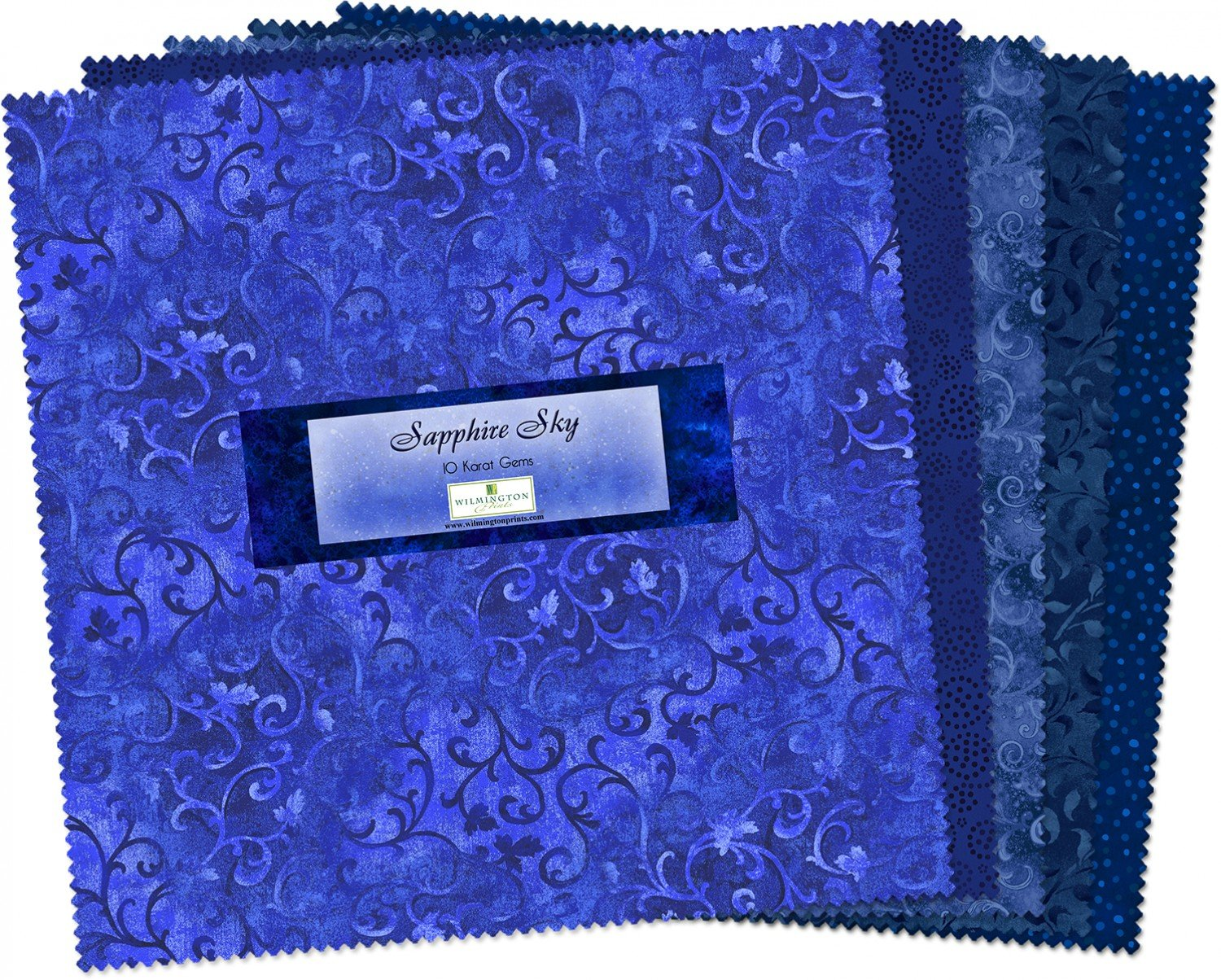 10in Squares Sapphire Sky 24pcs