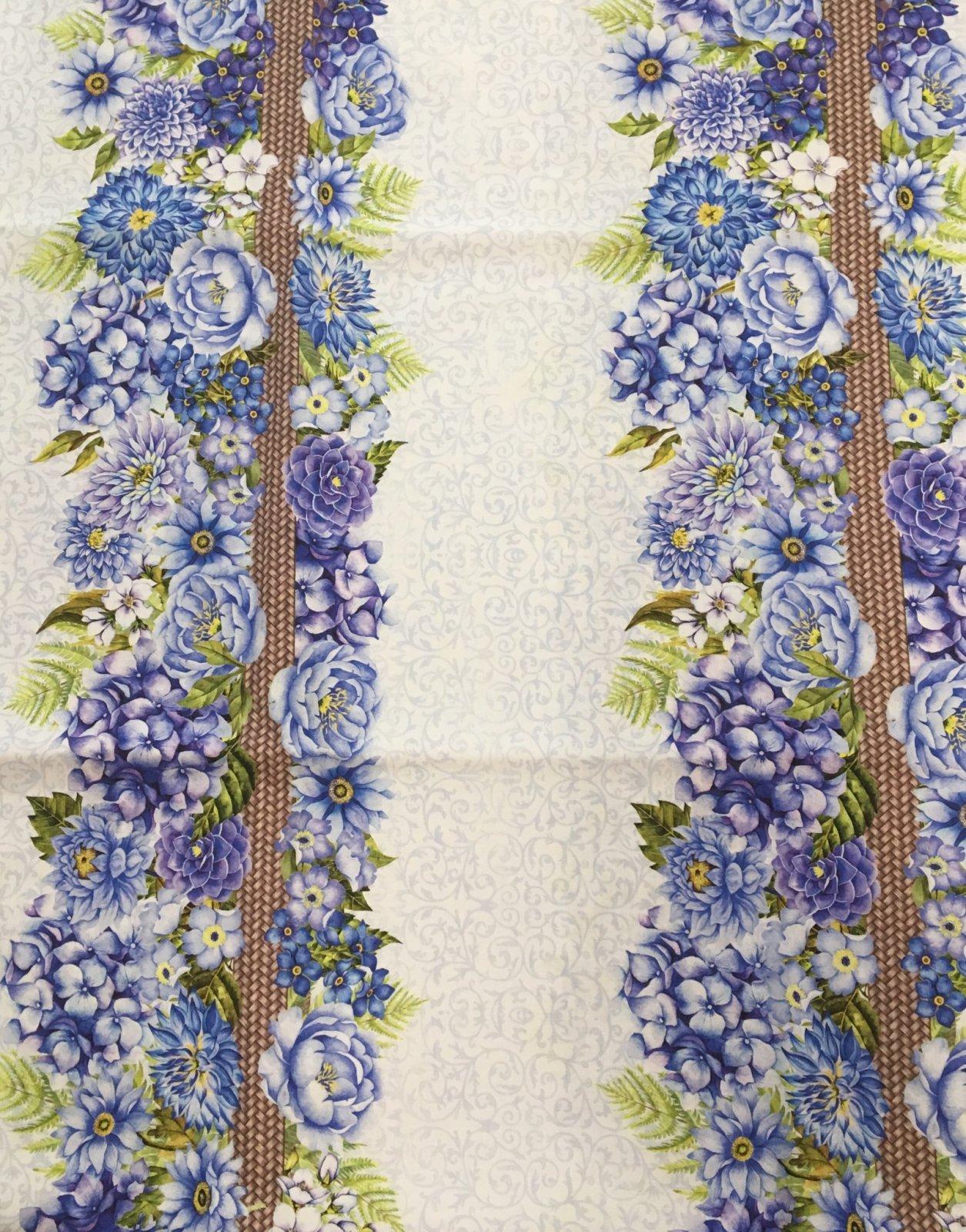 Karen's Garden Floral Stripe