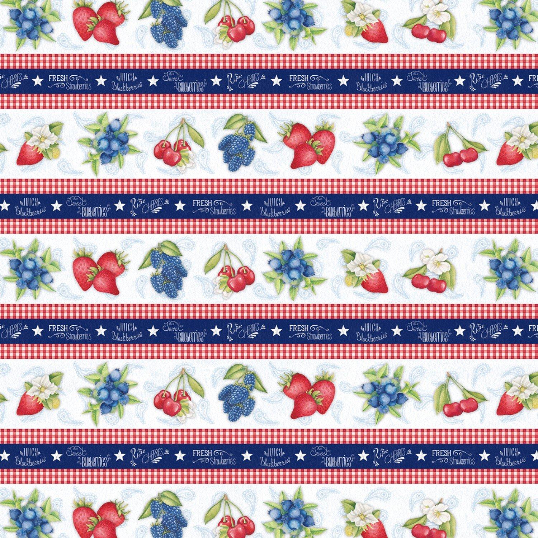 Berry Sweet Repeating Stripe