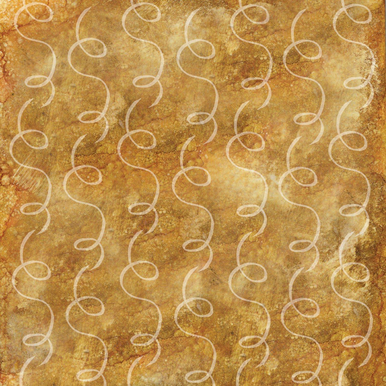 Coffee Break Gold Swirls