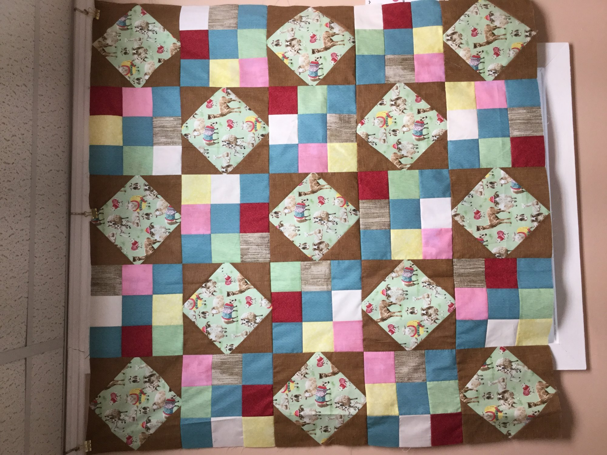 Frolicking Llamas Quilt Kit 45 x 45