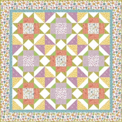 Whoo's Hoo Quilt Kit 67 x 67