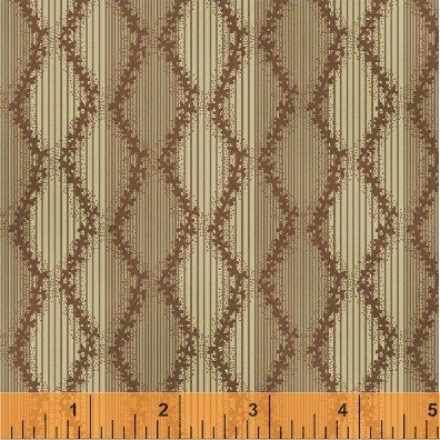 Orchard House Taupe/Pink Stripe