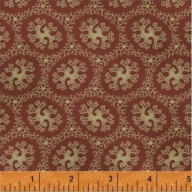 Orchard House Red/Cream Print