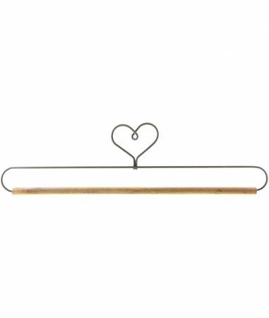 12in Heart With Stained Dowel Holder