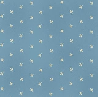 Alice's Washday Blues by Blue Hill Light Blue with Leaves