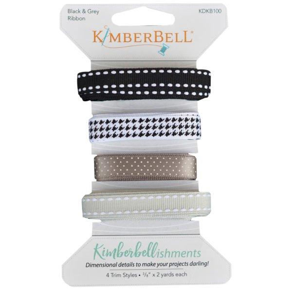 Kimberbell Black & Gray Ribbon Set