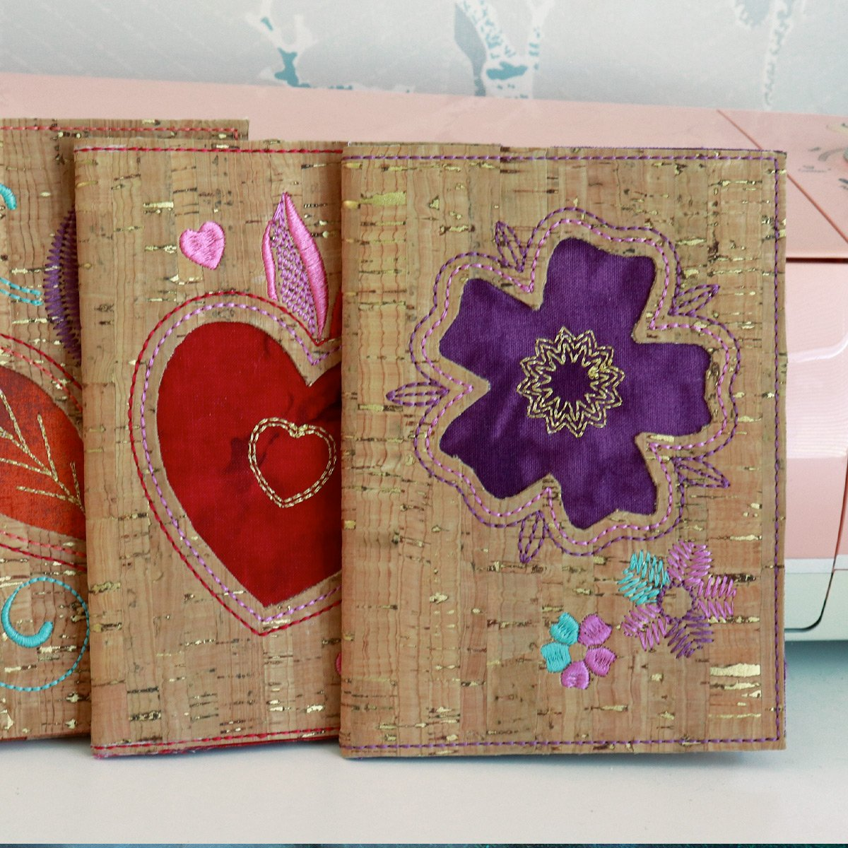 Reverse Applique Notebook Covers