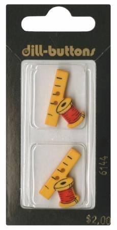 6144DLSpool & Tape Button 1in
