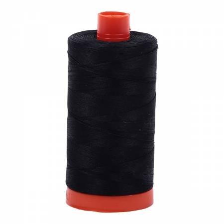 Mako Cotton Thread Solid 50wt 1422yds Black