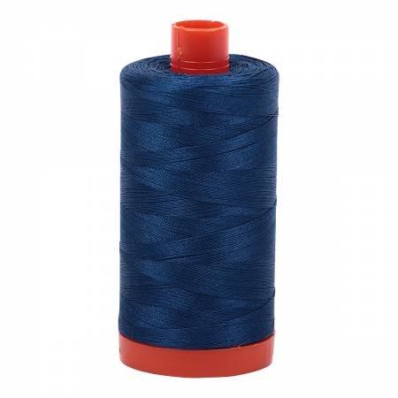 Mako Cotton Thread Solid 50wt 1422yds Medium Delft Blue