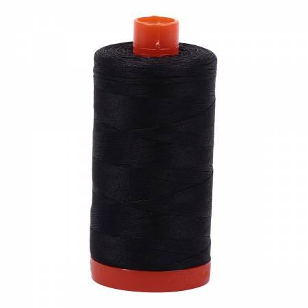 Mako Cotton Thread Solid 50wt 1422yds Very Dark Grey