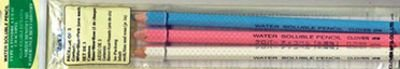 Water Soluble Pencil Assorted 3ct
