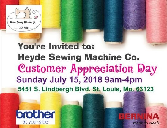 Customer Appreciation Day Delectable Heyde Sewing Machine