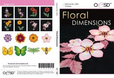12692CD FLORAL DIMENSION