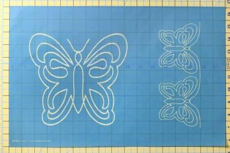 Full Line Stencil Butterfly Motif & Border # H40009