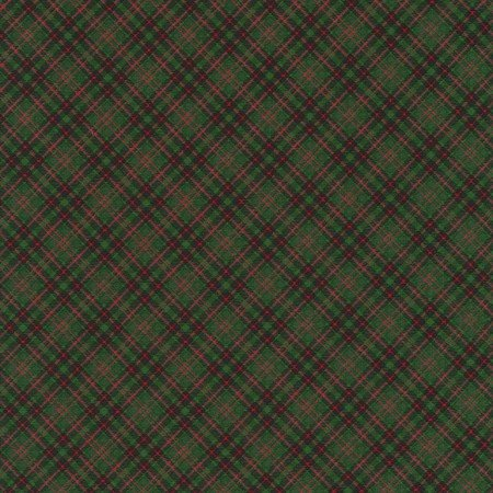 C5790 HOLIDAY - GREEN BIAS PLAID