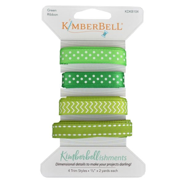 Kimberbellishments Green Ribbon Set # KDKB104