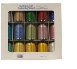 Metallic 15 Spool Thread Kit MT1500