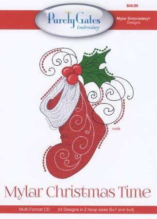 PG5530 MACHINE EMBROIDERY DESIGN MYLAR CHRISTMAS TIME