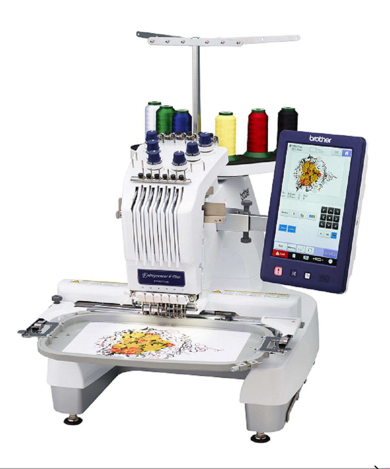 NEW PR670E SIX NEEDLE EMBROIDERY MACHINE