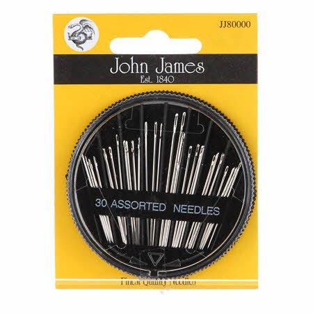 6590 John James Compact 30 Needle Assortment 12/bx