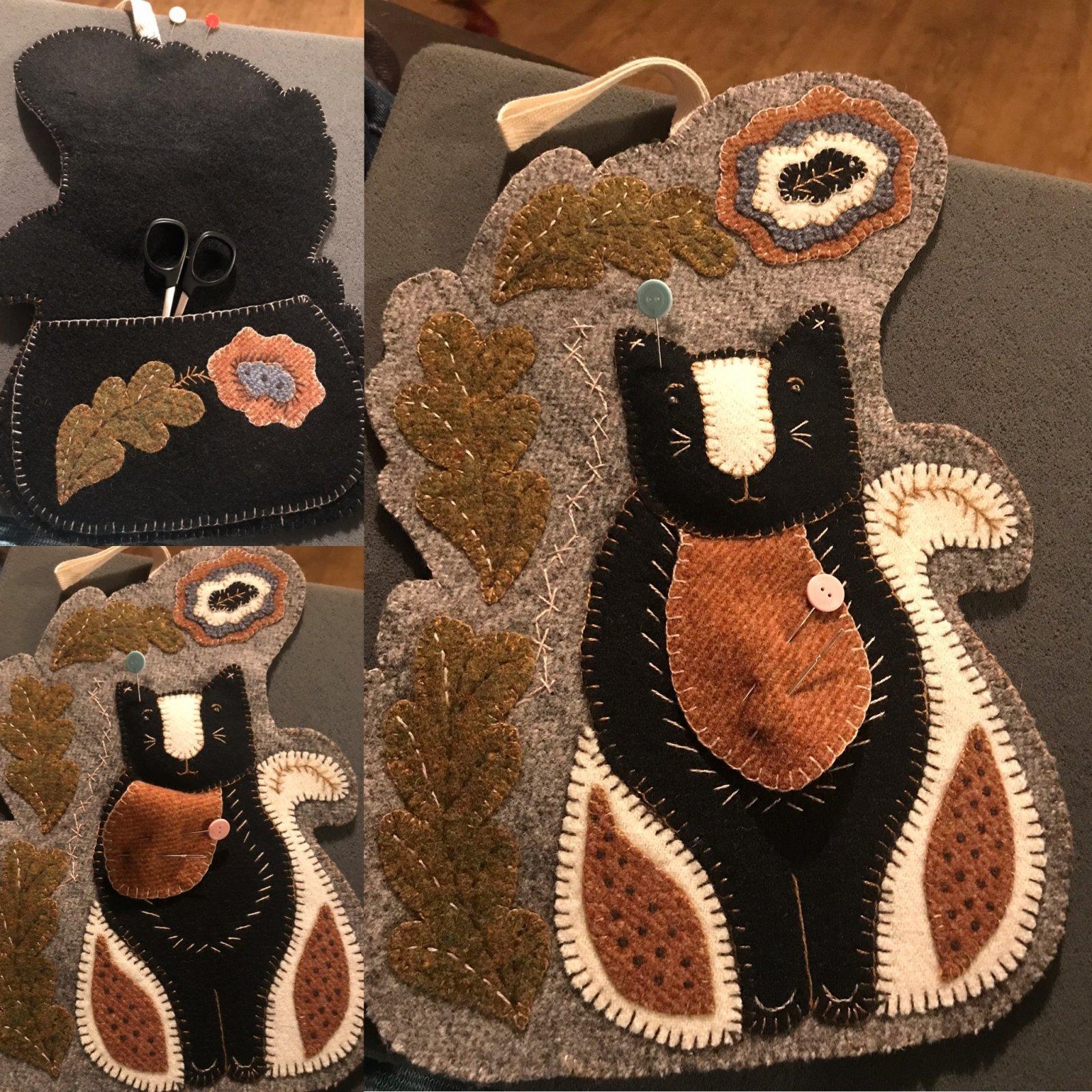 Kitty Sewing Caddy Wool Kit & Pattern by Rebekah Smith