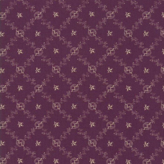 Evelyn's Homestead 31566 17 Purple with Cream Criss Cross Design