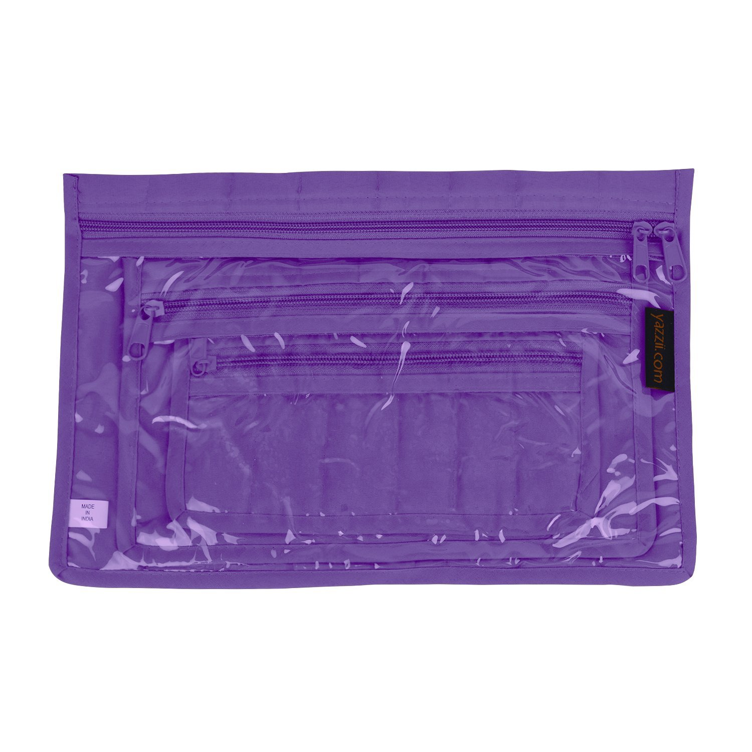 Yazzii 3-Piece Notions Pouch Set Purple