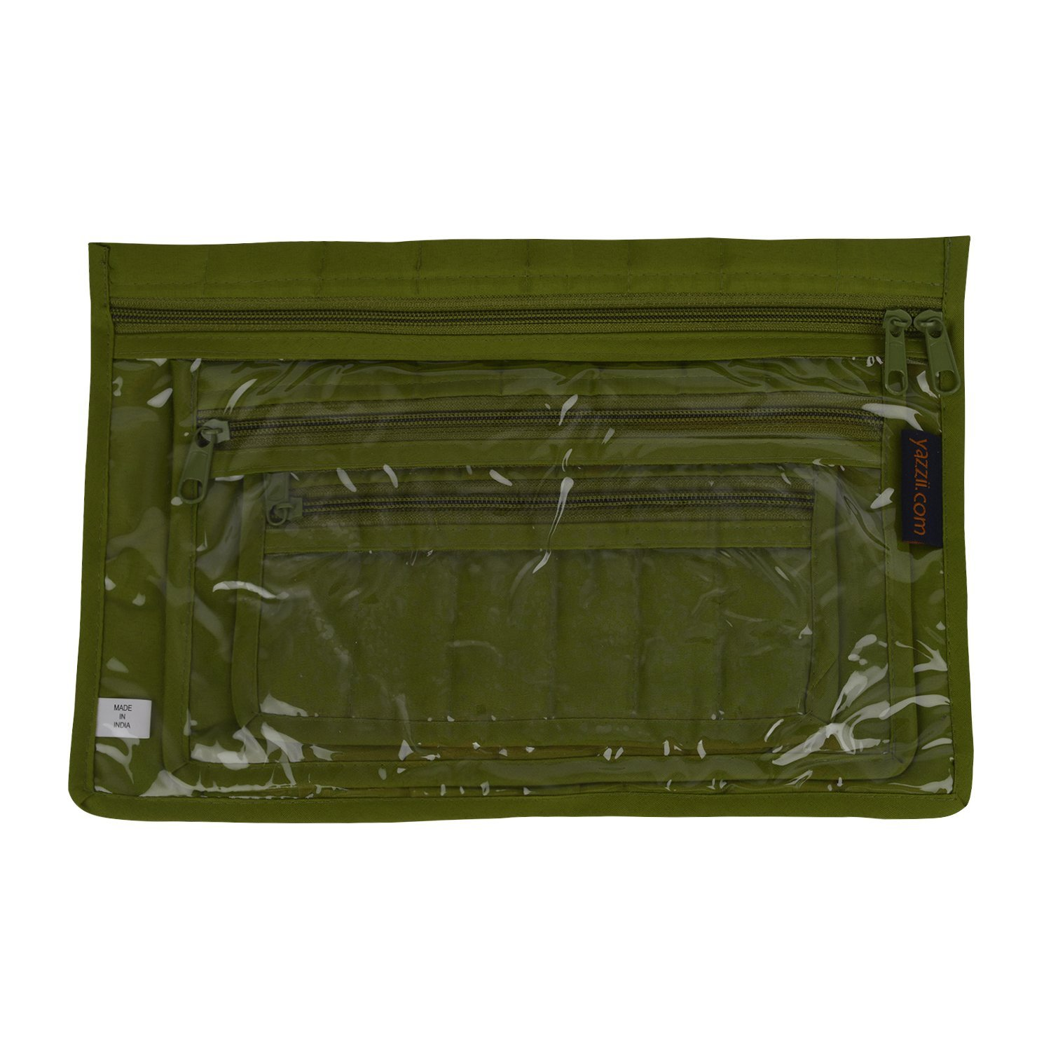 Yazzii 3-Piece Notions Pouch Set Green