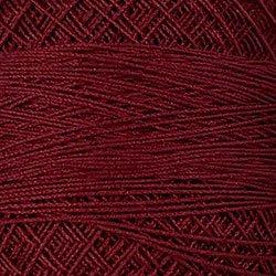 78 Rusty Burgundy Crochet Cotton Valdani Size 20 Wt