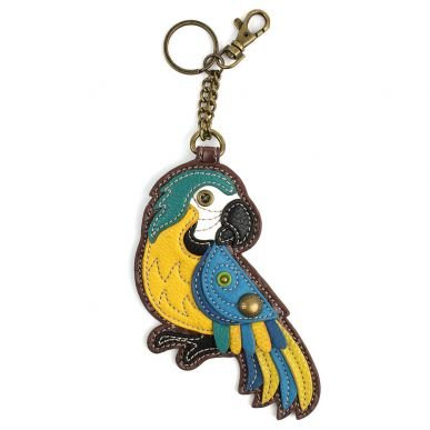Blue Parrot Keychain