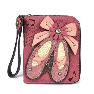 Ballet Shoes Zip Around Wallet